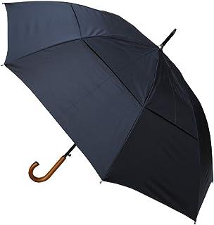 COLLAR AND CUFFS LONDON - Antivento EXTRA ROBUSTO- Struttura Rinforzata con Fibra di Vetro - Ventilato Doppio Calotta - Manico In Legno - Automatico - Ombrello Classico - Nero