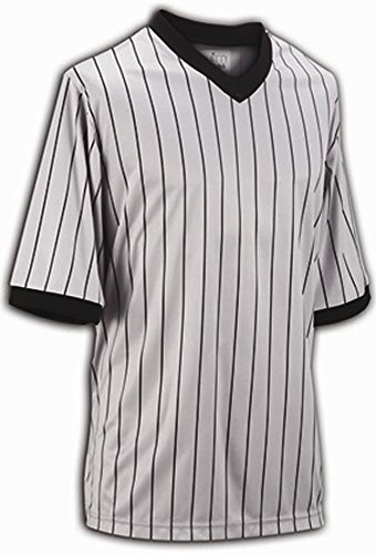 Adams USA Smitty Performance Mesh Standard V-Neck Referee Shirt (Gray  Pinstripe 81b769418
