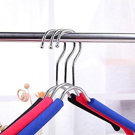 blue Packung mit 10 GFYWZ Erwachsenen Kleiderb/ügel Flexible robuste rutschfeste langlebig extra breite Anti-Rutsch Design
