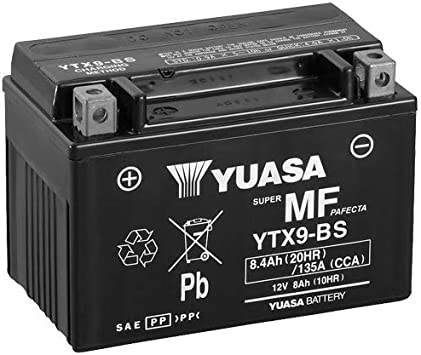 Batterie Yuasa Ytx9 Bs Wc Agm Geschlossen 12v 8ah Cca 135a 152x87x107mm Für Kawasaki Z1000 Baujahr 2005 Auto