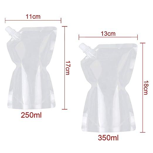 Amazon.com: 20 Pack Plastic Liquor Pouch Drinks Flasks ...