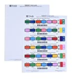 TAB TABQUICK Full Tab Labels for Inkjet Printers, 1,800 per Pack
