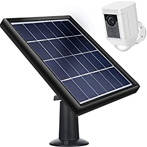 Solar Panel for Ring Spotlight Cam, Waterproof Continuously Charge with Security Wall Mount and 5 m/16.4 ft Power Cable, 5 V/3.5 W (Max) Output (Not Included Camera, Not for Stick up cam/Arlo cam)
