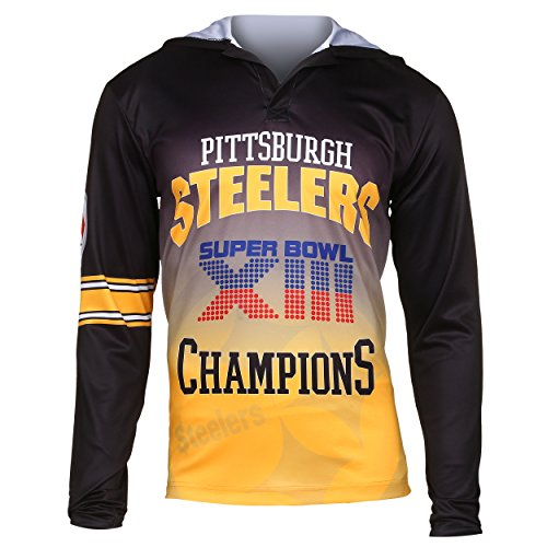 (NFL Pittsburgh Steelers Super Bowl XII Champions Hoody Tee, Large)