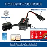 MOTOPOWER MP0609 3.1Amp Motorcycle USB Charger SAE