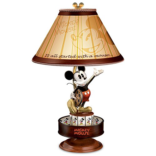 Disney Mickey Mouse Lamp with Spinning Animation Base and Silhouette Shade by The Bradford Exchange (Shade Lamp Spinning)