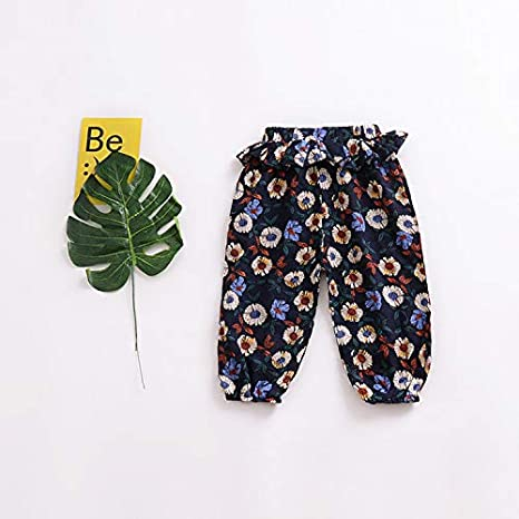 Mini honey Toddler Kids Cute Baby Girl Casual Eelastic Harem Bloomers Girls Colorful Retro Comfy Summer Pant
