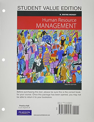 Human Resource Management, Student Value Edition (12th Edition)