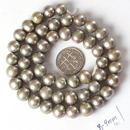 Round Gray Freshwater Pearls - 4