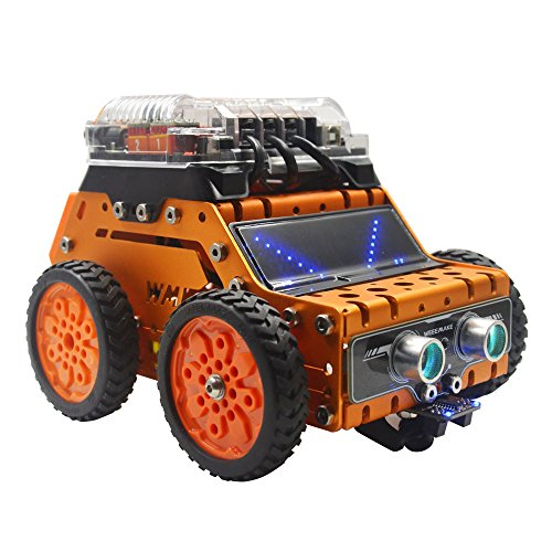 WeeeMake DIY WeeeBot Robot Kit STEM Education Arduino Scratch Programmable  Robot Kit for Kids to Learn Coding, Robotics and Electronics (Bluetooth