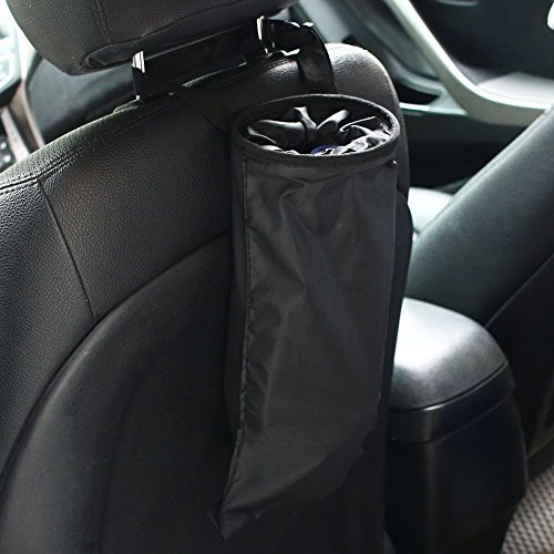 NHsunray Car Garbage Bag Oxford Waterproof Elastic Top Leakproof Eco-friendly for Travelling, Outdoor, Home and Vehicle Use