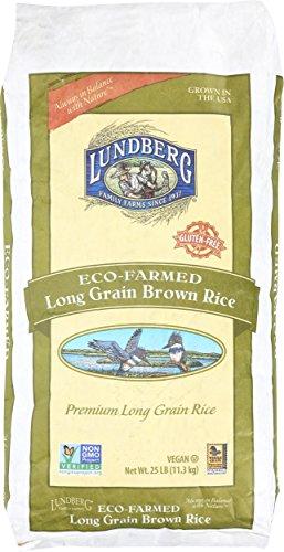 Long Grain Brown Rice (Lundberg Family Farms Brown Rice, Eco-Farmed Long Grain 25 Pound)
