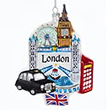 "Kurt Adler GLASS ""LONDON"" LANDMARK ORNAMENT"