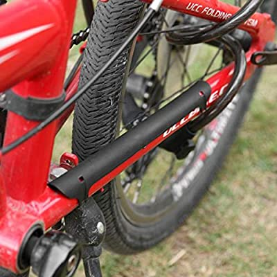 Bike Chain Stay Guard Bicycle Frame Protector Pad Cover Guards Pack Of 2 Black