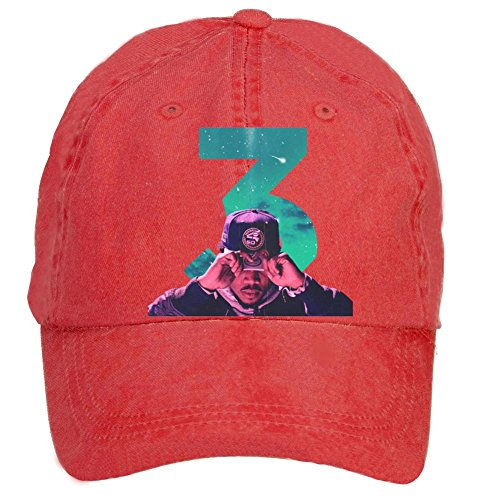 Aiyle Bonee Unisex Coloring Book 3 Chance The Rapper Art Poster Adjustable Outdoor Baseball Hat Red
