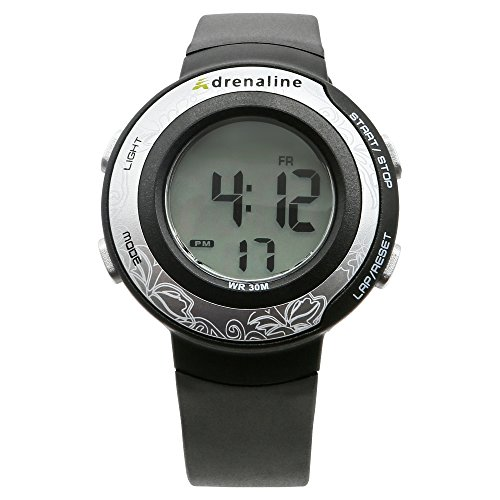 (Freestyle Unisex AD50670 Adrenaline Round Digital Fitness Ribbed Strap Watch )