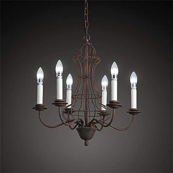 GJ123 Deng Personalidad Creativa Retro nostálgica Hierro Forjado lámpara Antigua, Tienda de Ropa iluminación de