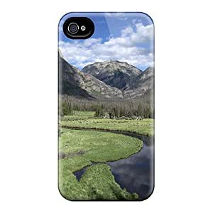 Excellent Iphone 4/4s Case Tpu Cover Back Skin Protector A Winding Stream