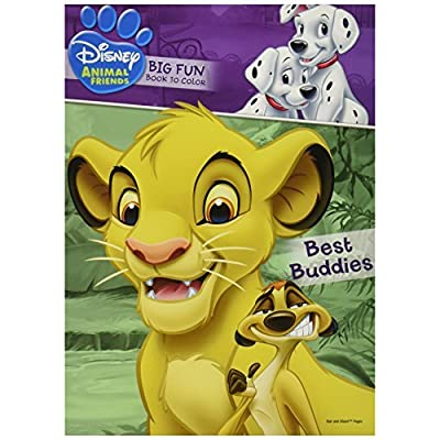 Disney Animal Friends ~ Big Fun Book to Color ~ Best Buddies!: Toys & Games