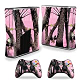 xbox 360 slim skins for console - Mightyskins Protective Vinyl Skin Decal Cover for Microsoft Xbox 360 S Slim + 2 Controller skins wrap sticker skins Pink Tree Camo