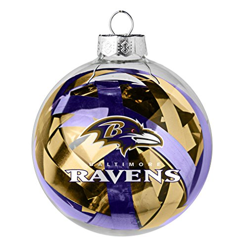 NFL Baltimore Tinsel Ball Ornament