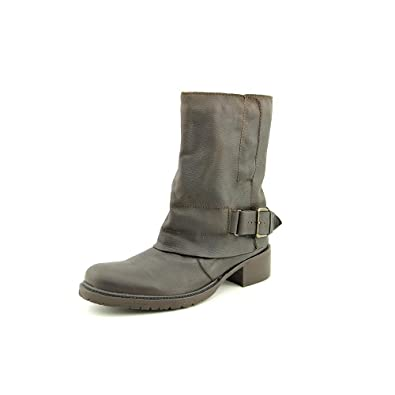 Womens Ledger 4 Leather Almond Toe Mid-Calf Motorcycle Boots