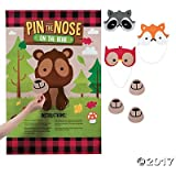 Woodland Party Pin the Nose on the Bear Game