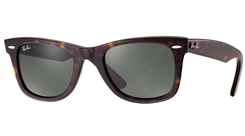 23372436131a2 Amazon.com  New Ray Ban RB2140 902 Wayfarer Tortoise Frame Crystal Green  Lens 54mm Sunglasses  Shoes
