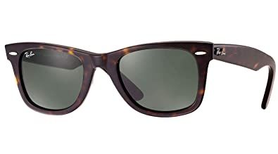 01128e56f050a Image Unavailable. Image not available for. Color  New Ray Ban RB2140 902  Wayfarer Tortoise Frame Crystal Green Lens 54mm Sunglasses