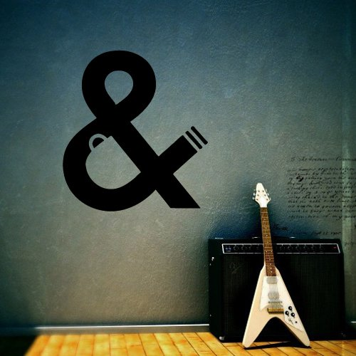 Wall Decor Vinyl Sticker Room Decal Coffee Cigarette Sign Symbol Letter -