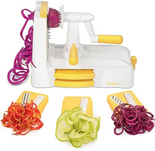Zestkit Tri-Blade Vegetable Slicer Veggie Cutter Spiralizer with Strong and Heavy Duty, Pasta & Spaghetti Maker