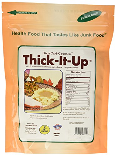 Thick-It-Up Low Carb Food Thickener: - Make Your Health Food Taste Like Junk Food - Great for Soups, Gravies, Sauces (Sugar Free!)6 (Dixie Low Carb)