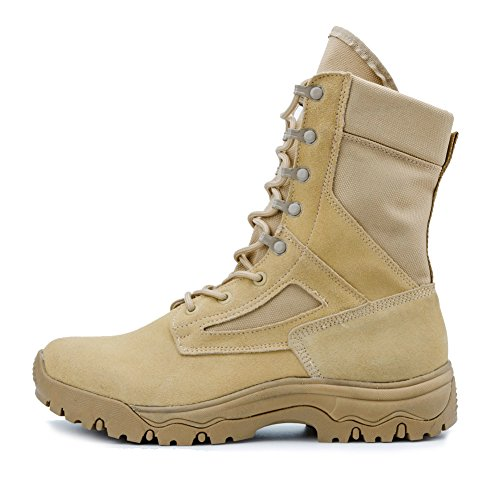 IODSON US New Military Athletic Tactical Comfort Leather Boots Mens' Ultra-Light Combat Boots Waterproof - stylishcombatboots.com