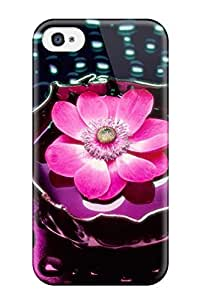 Hot Design Premium SNGXaCZ3225CABEV Tpu Case Cover Iphone 4/4s Protection Case(pink Flower)