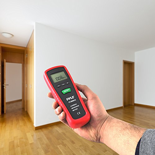 Hand Held Carbon Monoxide Meter - High Accuracy and 1000 PPM Measurement Range CO Sensor w/Digital LCD Display Auto Power Off Safety Alarm Battery Operated and Control Buttons - Pyle PCMM05 by Pyle (Image #2)