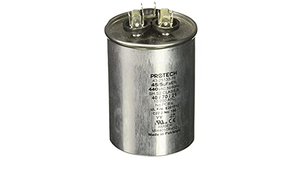 Amazon com: Protech 662766275452 45/5/440 Dual Round Capacitor: Home