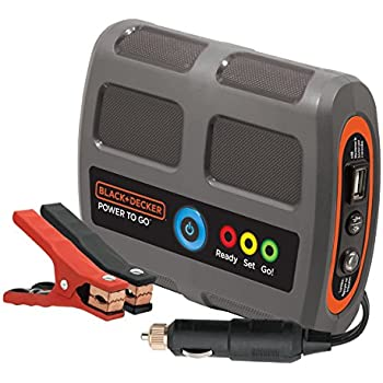 BLACK+DECKER P2G7B Power To Go Lithium Ion Portable Power and Vehicle Battery Booster