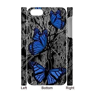 Butterfly 3D Cell Phone Case for Iphone 4,4S,diy Butterfly 3d cell phone case