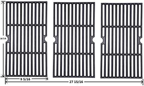 "GGC Grill Grid Grates Replacement for Charbroil463420508, 463420509, 463420511, 463436213, 463436214, 463440109, 463441312,Master Chef, Thermos,Backyard and Others(16 7/8"" x 9 5/16"" Each)(Set of 3)"