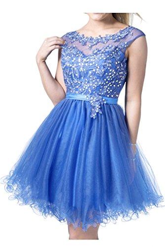 Cocktailkleider Marie Glamour Blau Mini Tuell A La Braut Spitze linie Promkleider Tanzenkleider Rock Heimkehr XwE6dxqT