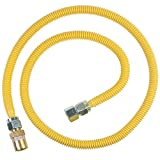 BrassCraft CSSC22R-60 P Safety PLUS Gas Appliance Connector with 5/8'' OD EFV and 3/4'' FIP x 3/4'' FIP x 60''