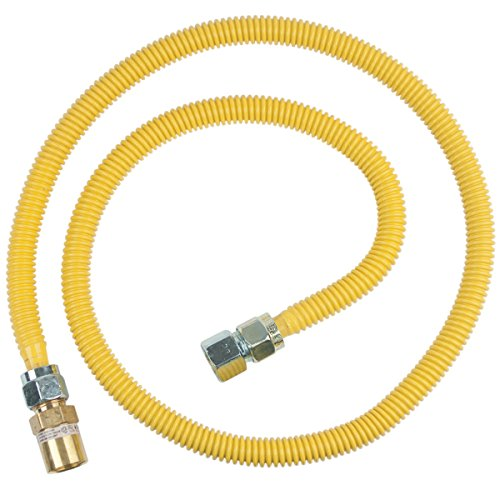 BrassCraft CSSC22R-60 P Safety PLUS Gas Appliance Connector with 5/8