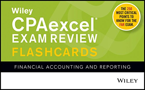 Pdf Test Preparation Wiley CPAexcel Exam Review Flashcards: Financial Accounting and Reporting
