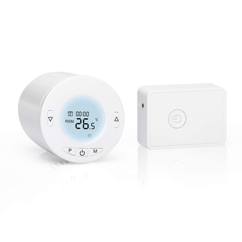 Thermostat Programmable avec Contr/ôle Vocal et Contr/ôle /à Distance Meross T/ête Thermostatique Connect/ée WiFi Compatible avec Alexa Google Home et IFTTT AVEC HUB Thermostat Radiateur Intelligent