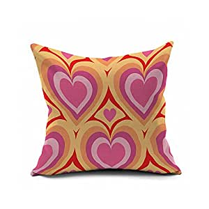 Pillowcases Pink yellow purple three color 18x18(inches)