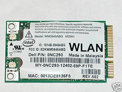 INTEL 3945ABG DELL 0NC293 WIFI 802.11 A/B/G MINI PCIE INTERNAL NETWORK CARD USA