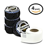 """Dymo Compatible 30254 LabelWriter Self-Adhesive Clear Address Labels, 1-1/8"""" x 3-1/2"""" (4 Rolls, 130 Labels Per Roll)"""