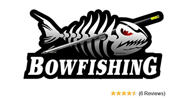 "3.5/"" x 7/"" Bowfishing Decal Sticker ProSticker 1512 One"