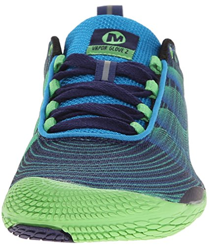 Merrell Men's Vapor Glove 2 Trail Running Shoe, Racer Blue/Bright Green, 8 M US by Merrell (Image #4)