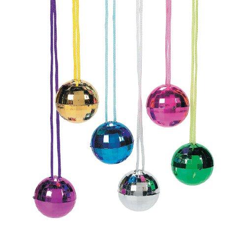 Fun Express Disco Ball Necklace Assortment - Jewelry - 12 Pieces